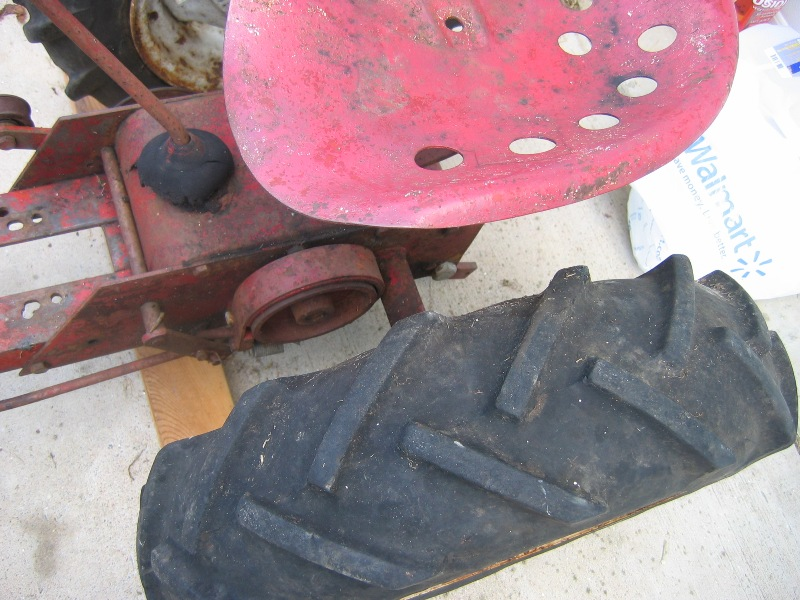 Wheel Horse RJ58 Seat Pan and Frame Holes